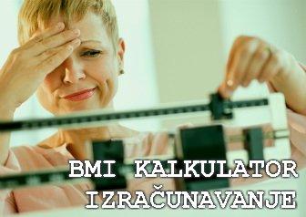 bmi kalkulator izracunavanje indexa telesne mase